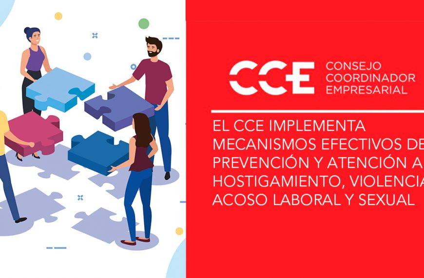 El CCE implementa mecanismos efectivos de prevención y atención al hostigamiento, violencia y acoso laboral y sexual