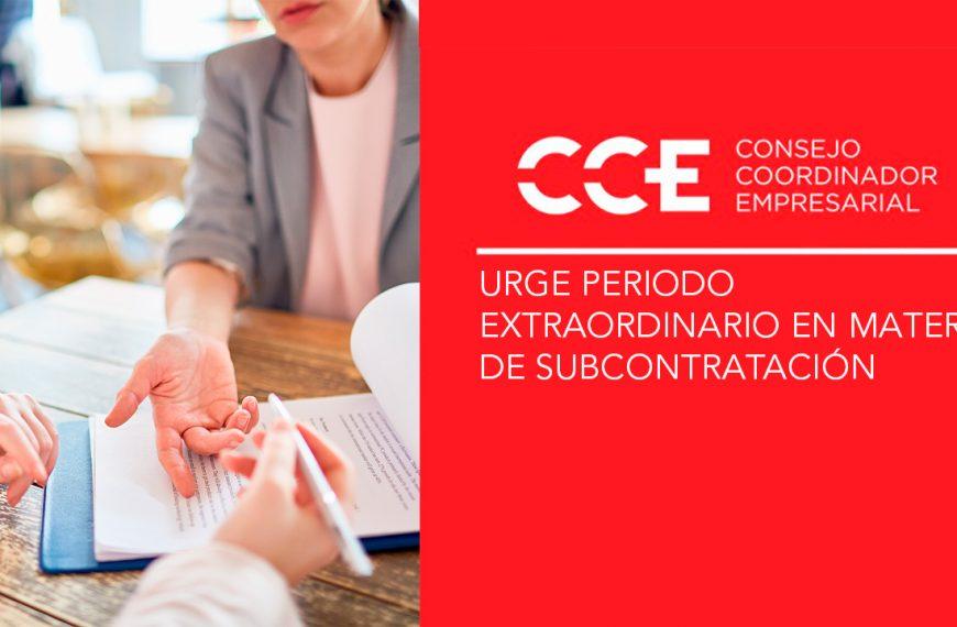 Urge periodo extraordinario en materia de subcontratación
