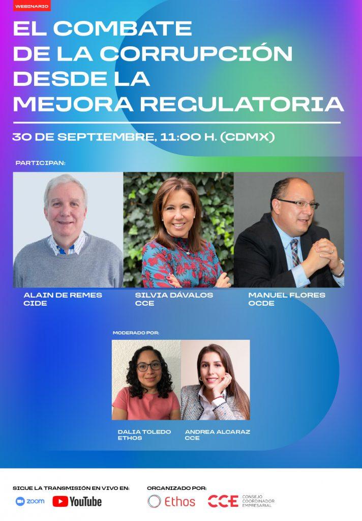 30 de Septiembre | El combate de la corrupción desde la Mejora Regulatoria