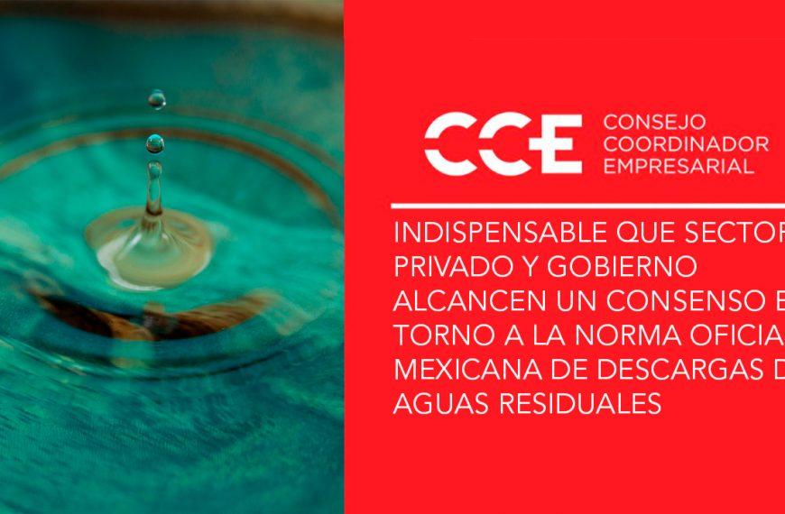 Indispensable que sector privado y gobierno alcancen un consenso en torno a la Norma Oficial Mexicana de Descargas de Aguas Residuales
