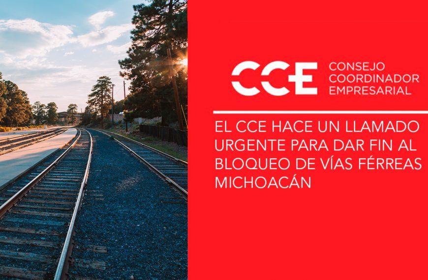 El CCE hace un llamado urgente para dar fin al bloqueo de vías férreas en Michoacán